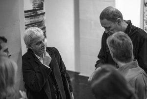 Paulo David et Bernard Garo à l'exposition de Lausanne