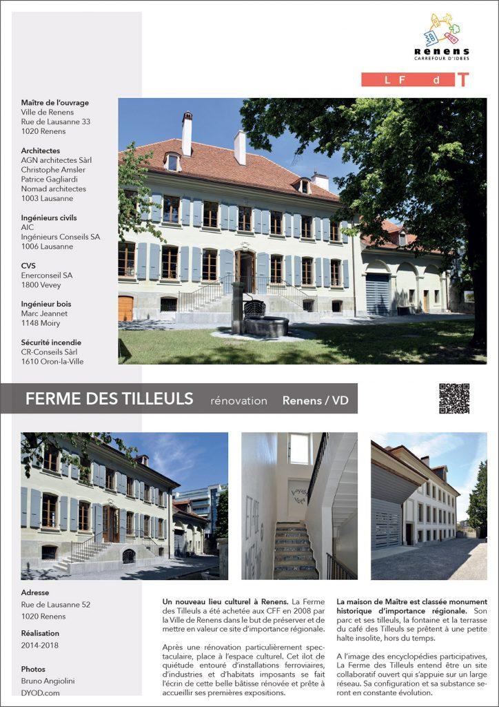 Rénovation d'un espace culturel dans la ferme des Tilleuls à Renens