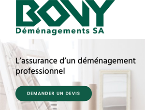 Bovy déménagements Lausanne Prilly
