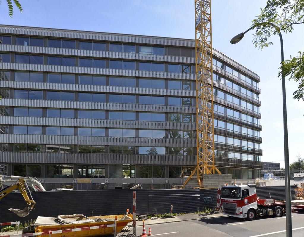 Construction et architecture du bâtiment du fond mondial à Genève