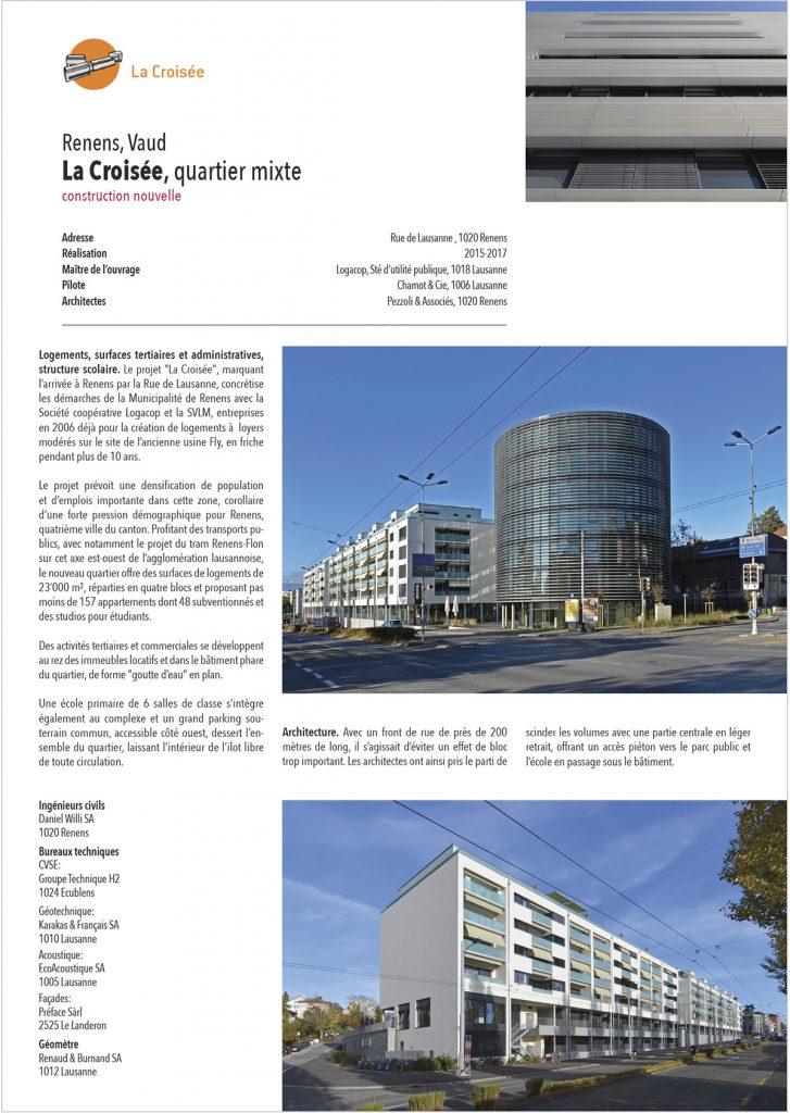 Renens 1020 Croisée magazine architecture projet