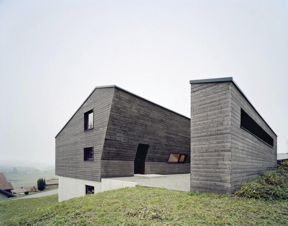 maison bois-béton chalet moderne