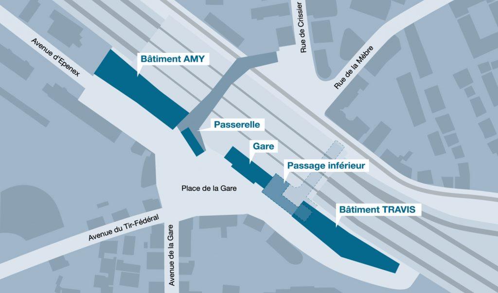 CFF Immobilier gare Renens Quai Ouest
