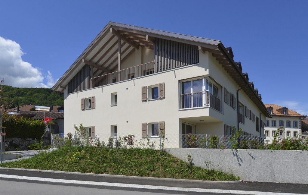 Immeuble locatif Le Vignoble Gilly Zimmermann architectes