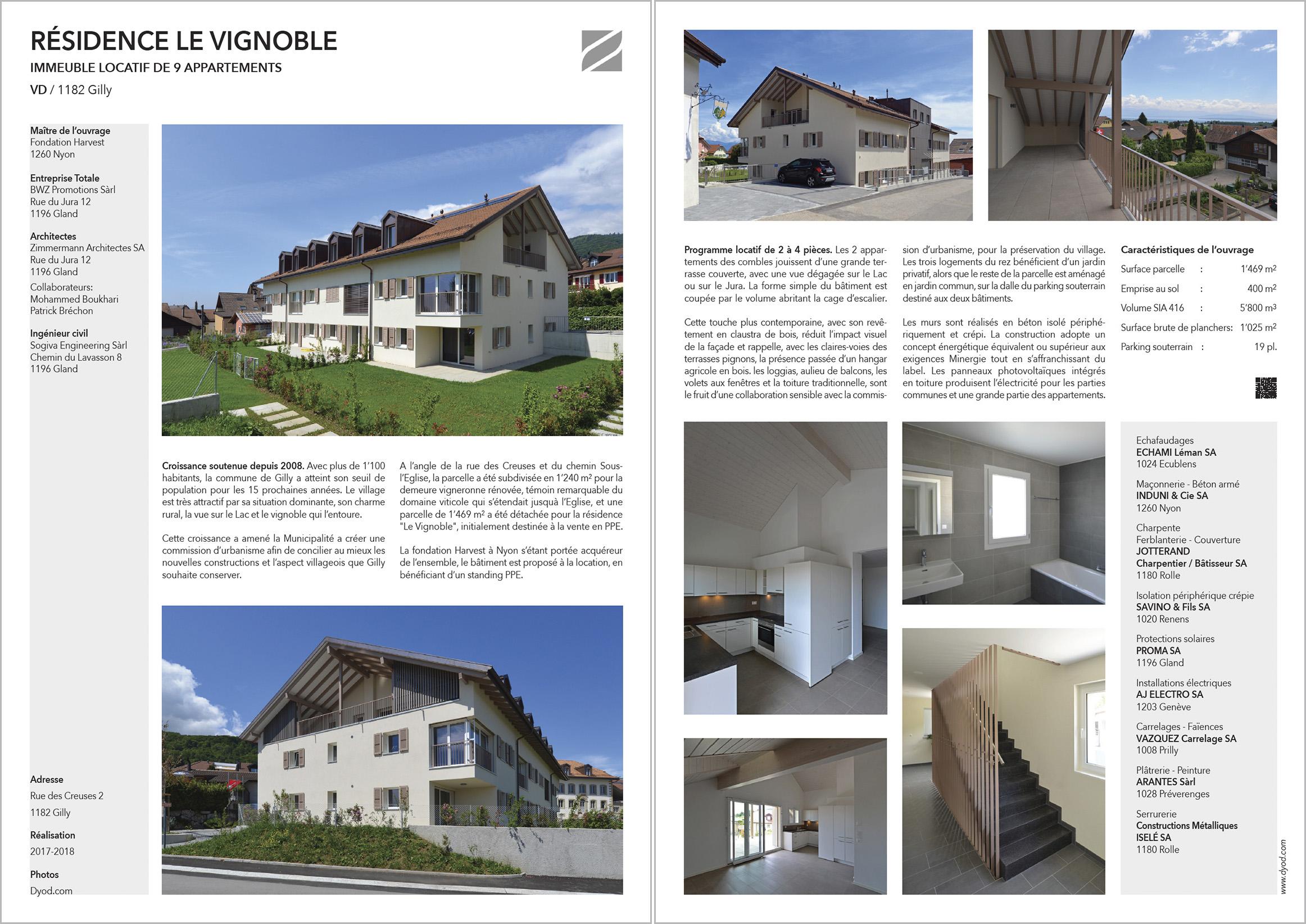 DYOD Résidence Vignoble Gilly Zimmermann Architectes
