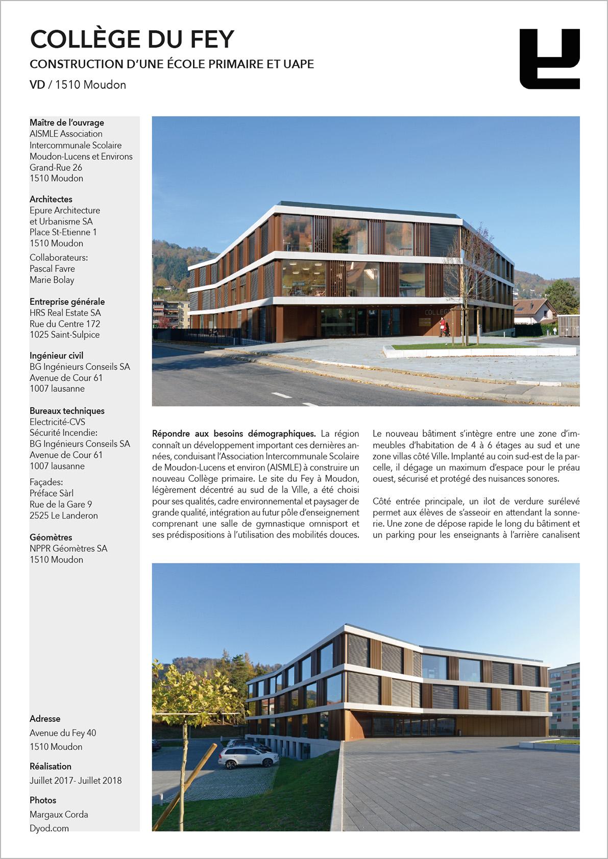 DYOD Collège du Fey Epure Architecture et HRS