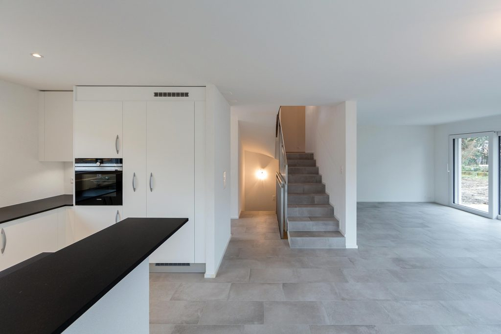 Construction neuve avec intérieur design