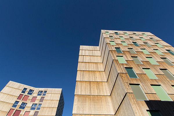 la façade est en bois traité