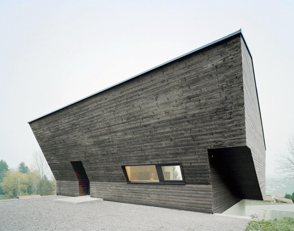 vue d'une maison de vacances en bois