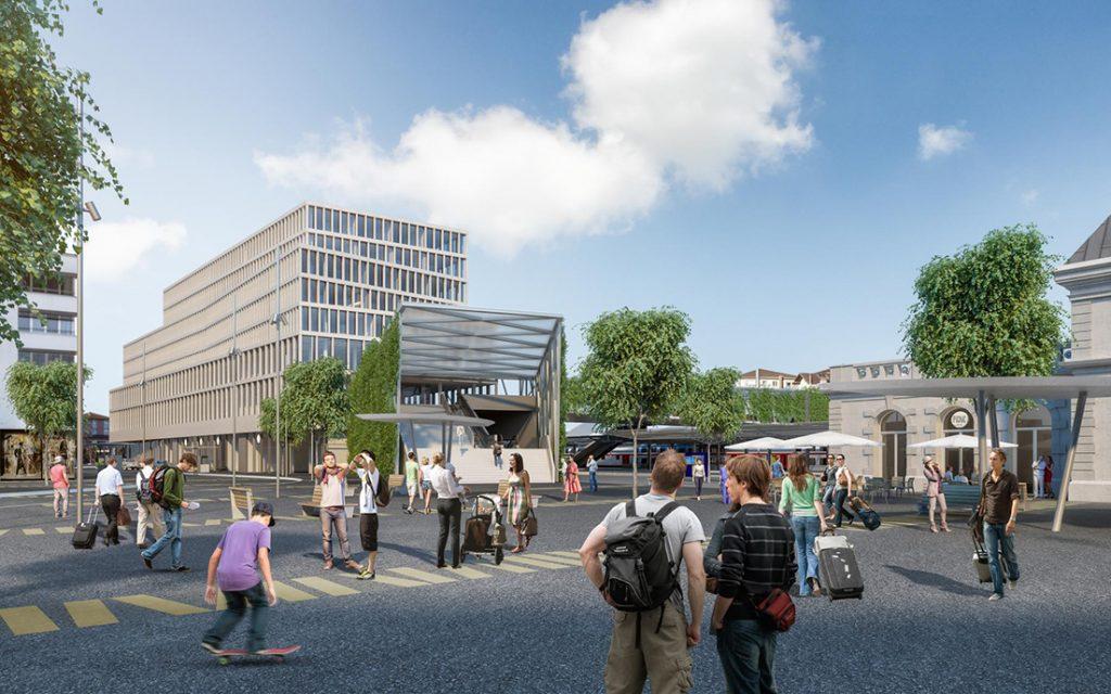 AMY projet CFF Immobilier gare Renens Quai Ouest