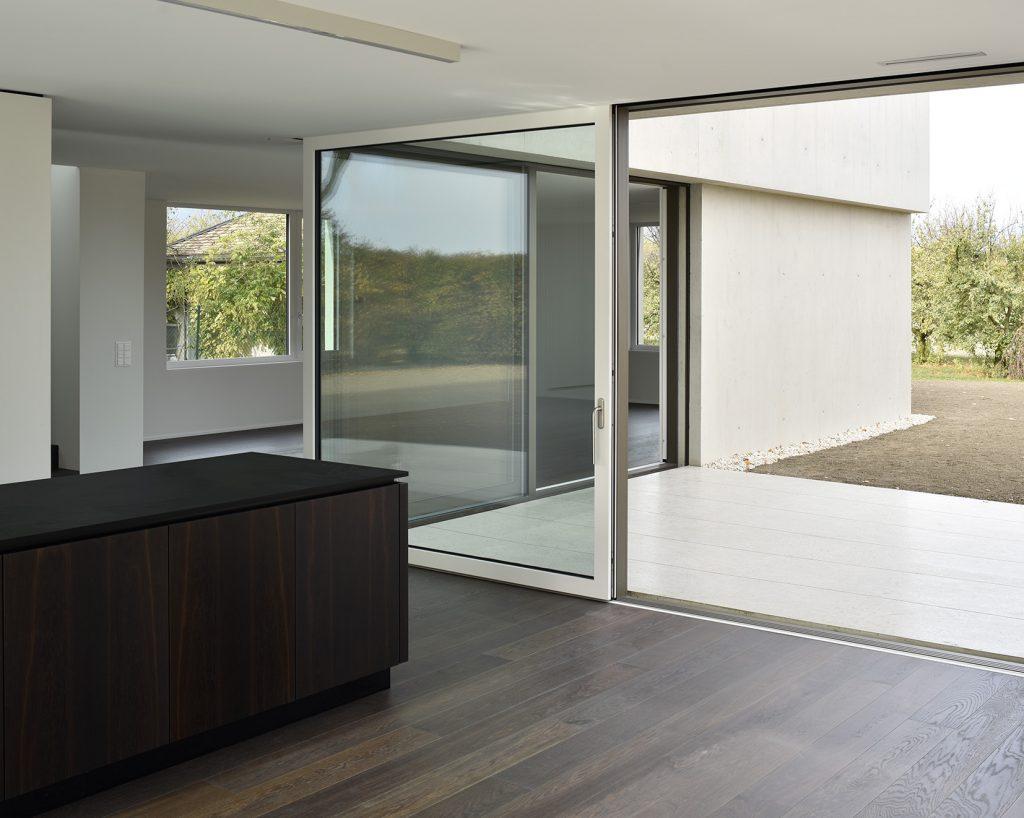 Villa moderne contemporaine béton brut Counson architectes