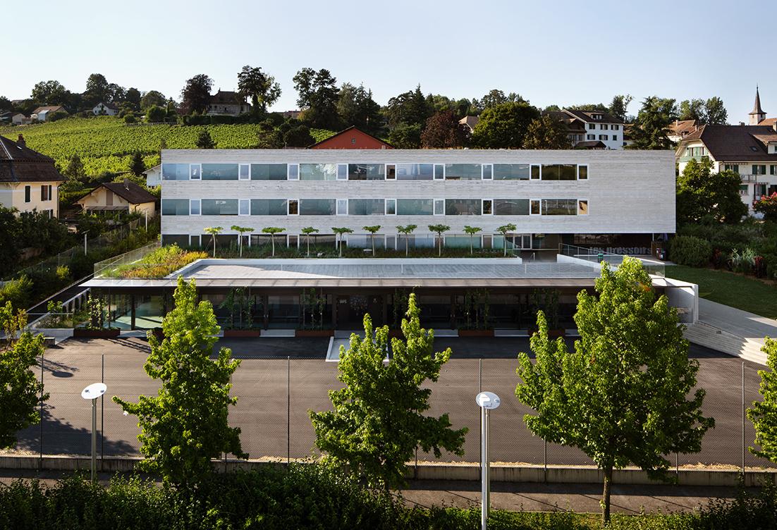 Collège des Pressoirs Lonay UAPE Sennwald Architectes