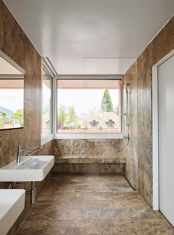villa inspiration singapour salle de bain marbre