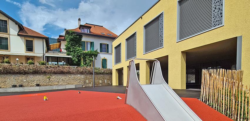 Collège de Vigner Saint-Blaise Patrick Minder Architectes Dolci Architectes stores Griesser