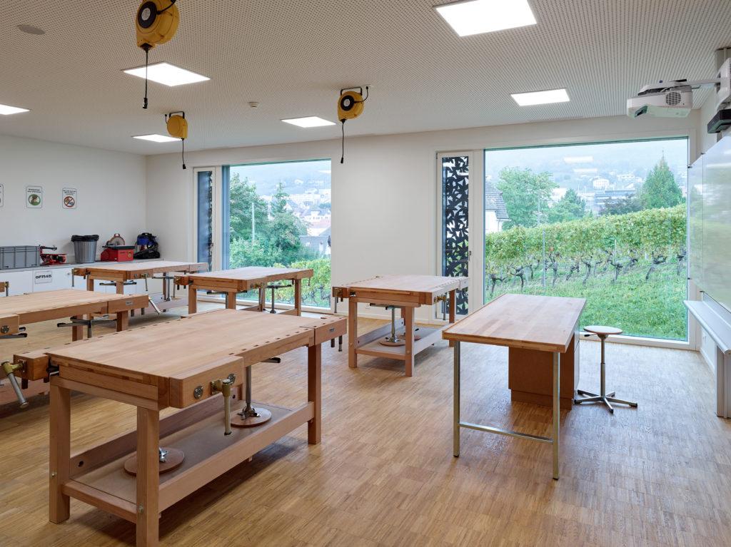 Collège de Vigner Saint-Blaise Patrick Minder Architectes Dolci Architectes vue Classe