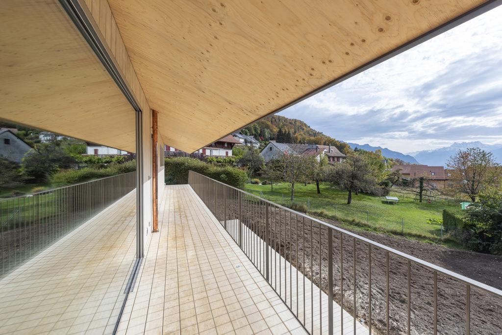 Villa contemporaine Blonay Sc Architectes vue Dents-du-Midi